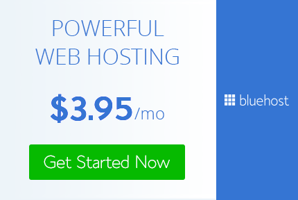 bluehost ad 3.95 per month